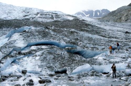 Vestbreen Glacier, Lyngsdalen, Norway. August 1990.